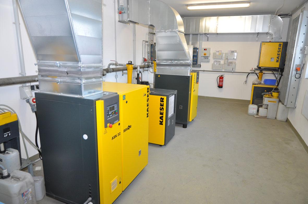 Kaeser Druckluftstation eingebaut von Bürener Druckluft- und Reinigungstechnik